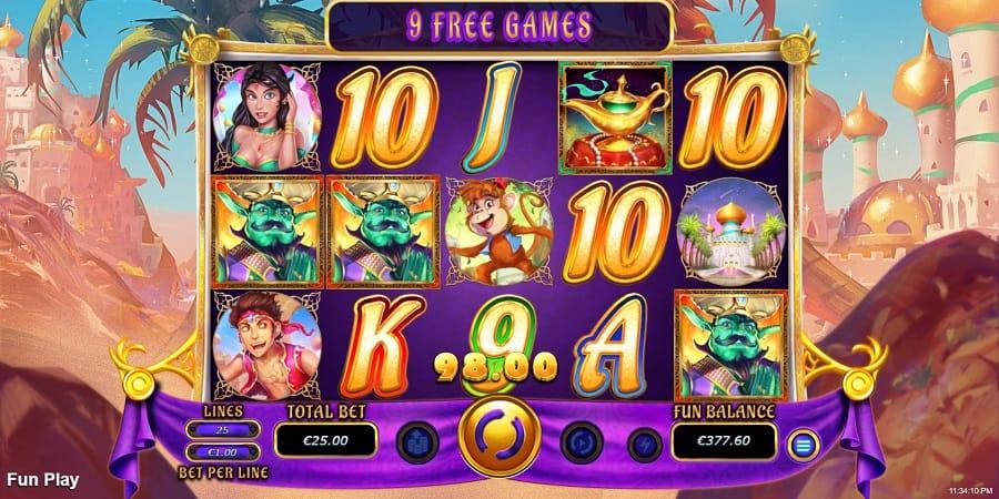 Raging Bull Casino - 5 Wishes Pokie Game