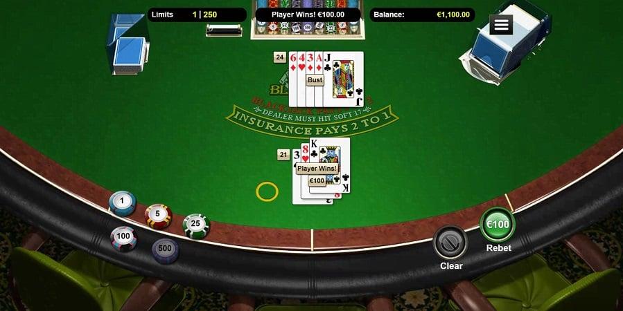 Blackjack Game at Raging Bull Casino
