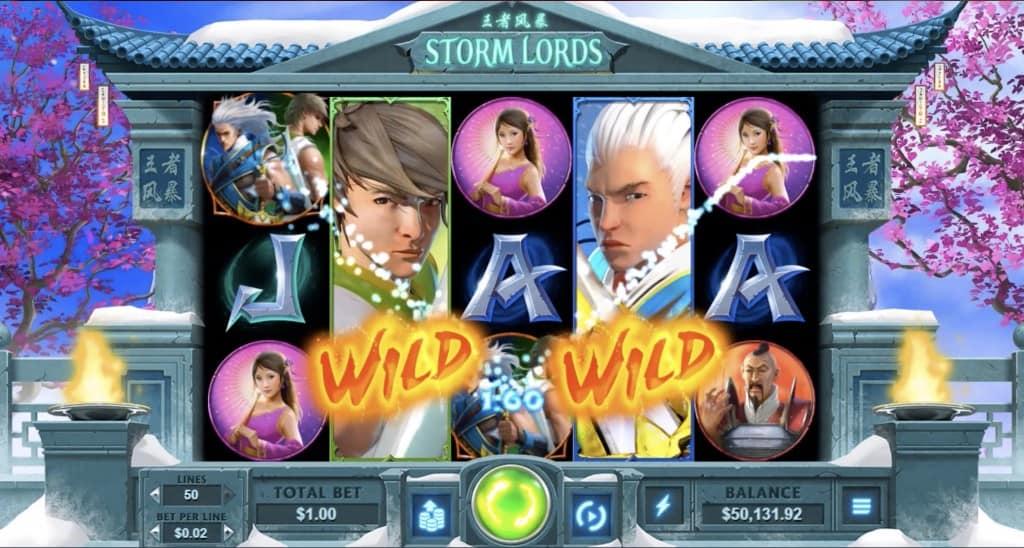 Raging Bull Casino - Storm Lords Pokie