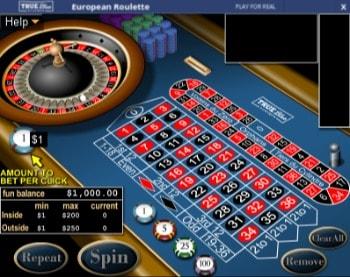 True Blue Casino Roulette