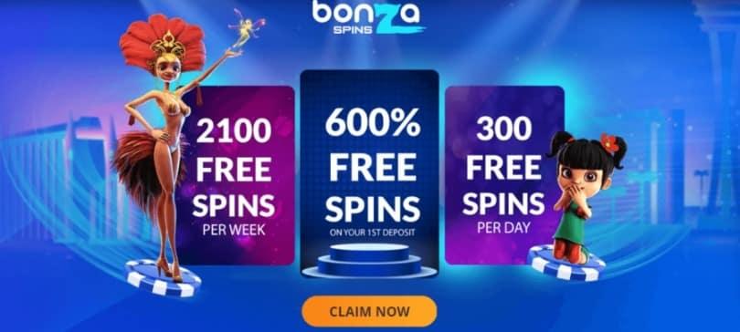 2100 weekly free spins