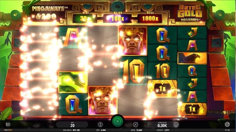 Aztec Gold MegaWays Pokie by iSoftBet - at Joo Casino