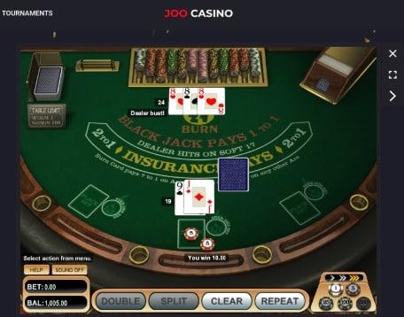 Joo Casino Review - BlackJack