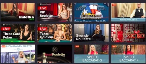 Joo Casino Review - Live dealer