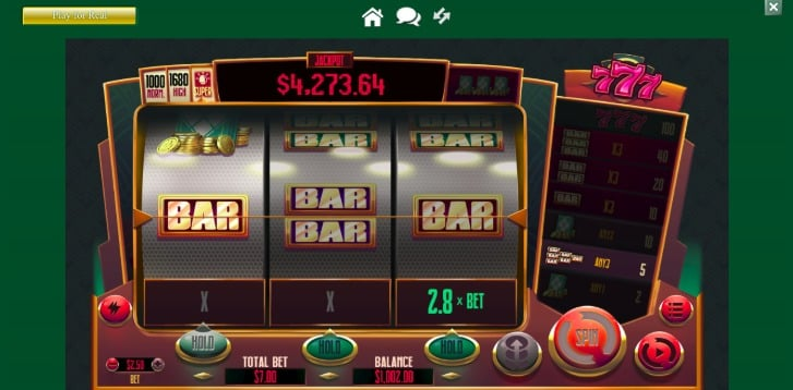 New 777 Pokie at Two Up Casino