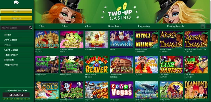 Pokies games at Two Up