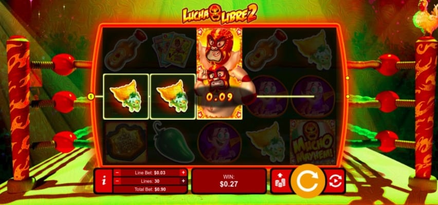 Uptown Pokies Casino -Lucha Libre 2 Pokie