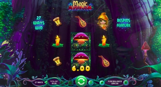 Uptown Pokies - Magic Mushroom Pokie