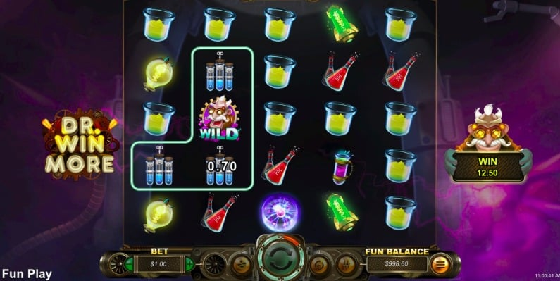 Playing DR. Winmore slot at Xpokies
