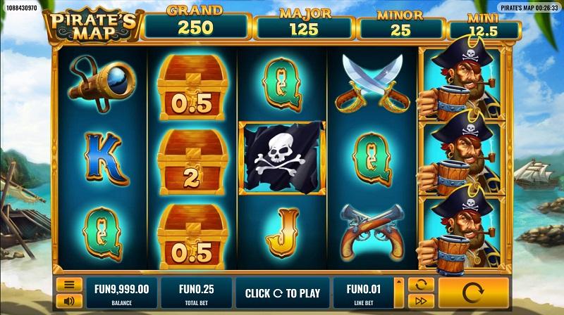 Pirat's Map Pokie by Platipus - 7Bit Casino Review