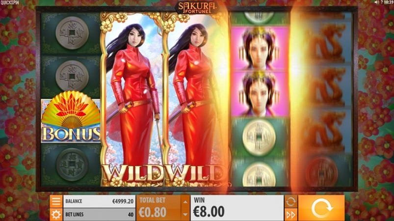 Sakura Fortune Pokie by Quickspin at 7Bit Casino