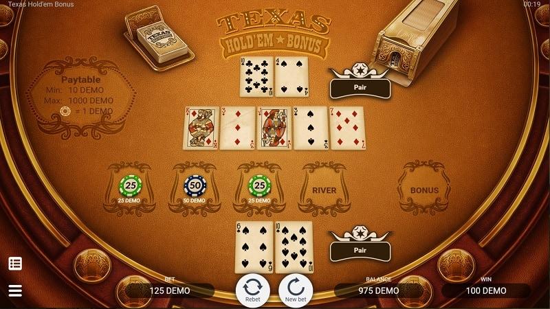 Texas Holdem Bonus Game by Evoplay - 7Bit Casino