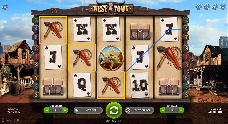 7Bit Casino Review - West Town Slot by BGaming - 20 Free Spins - No Deposit Bonus