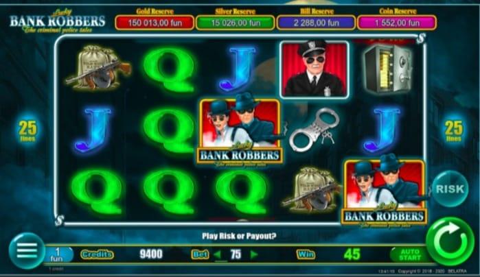 7Bit Casino Pokies - Lucky Bank Robbers