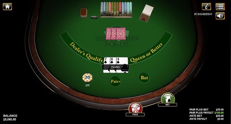 3 Card Poker by Habanero at 7bit Casino