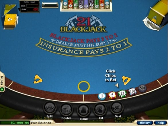 Blackjack at Aussie Play Casino