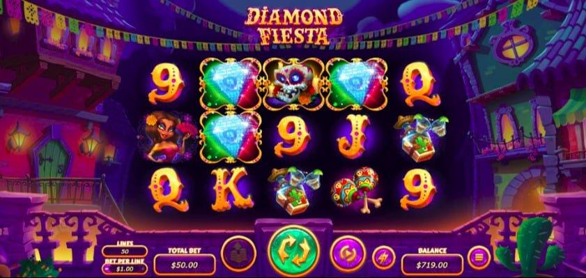 Diamonds Fiesta Slot at Aussie Play Casino