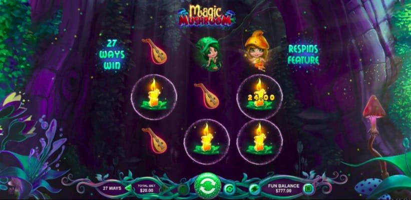Magic Mushroom Slot at Aussie Play Casino