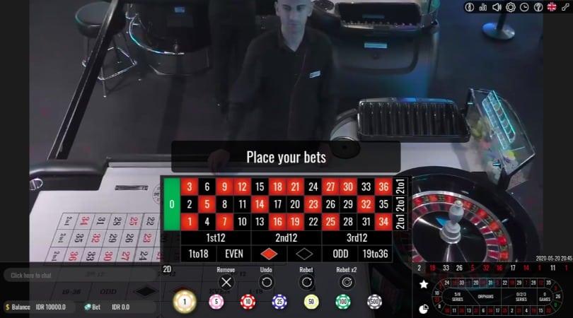 Live Dealer Roulette at Oshi Casino