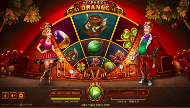 Mechanical Orange Pokie at Oshi Casino