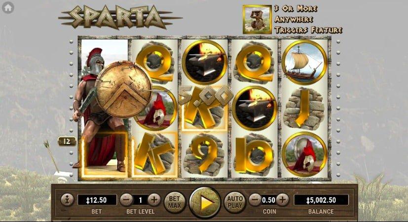 Sparta Pokie at Oshi Casino