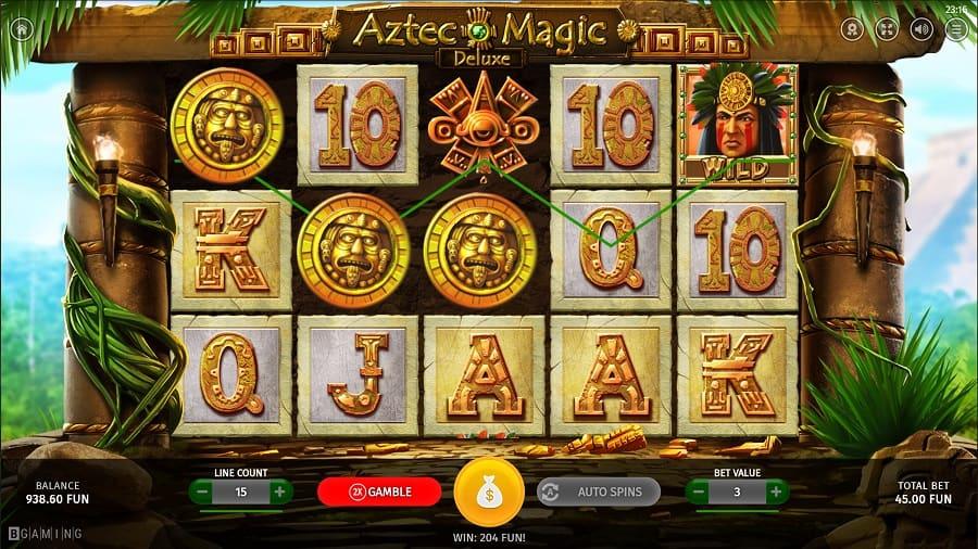 Gunsbet Casino - Aztec Magic Deluxe Slot by BGaming