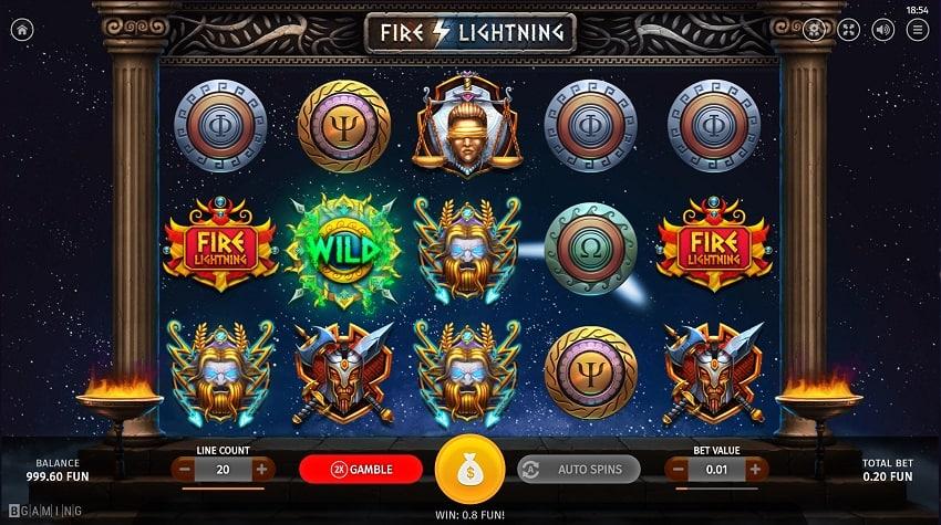 Fire Lightning Slot by Bgaming - Gunsbet Casino