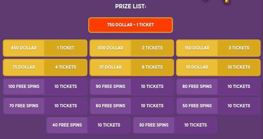 Gunsbet Casino - Lottery Section