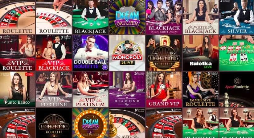 Gunsbet casino - live dealers selection