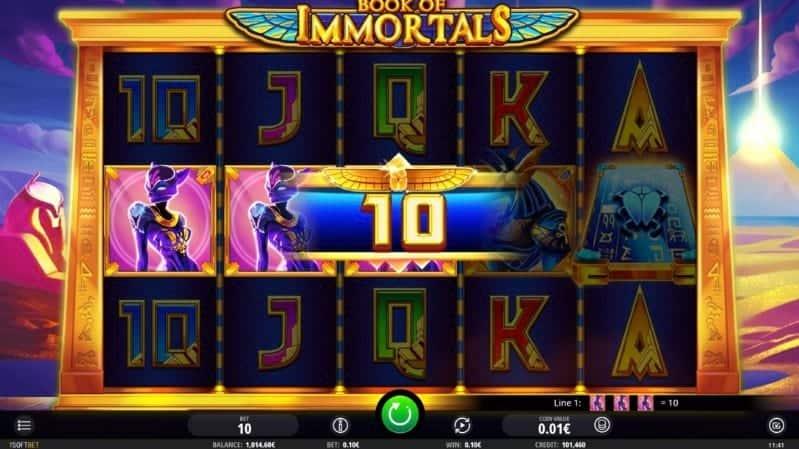 Book of Immortals Slot at Pokiez Casino