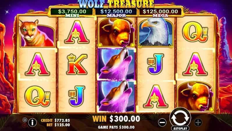 Wolf Treasure Slot at Pokiez Casino