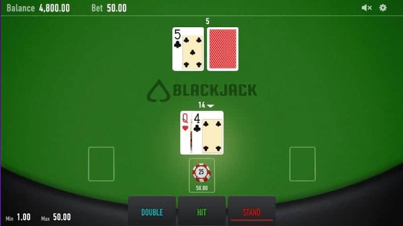 Playing Blackjack at Casino Rocket