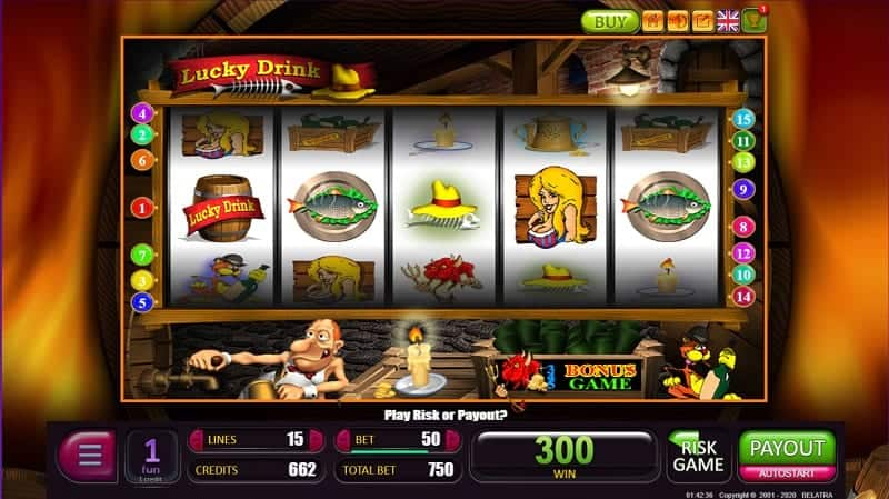 Playing Lucky Drink Pokie at Casino Rocket