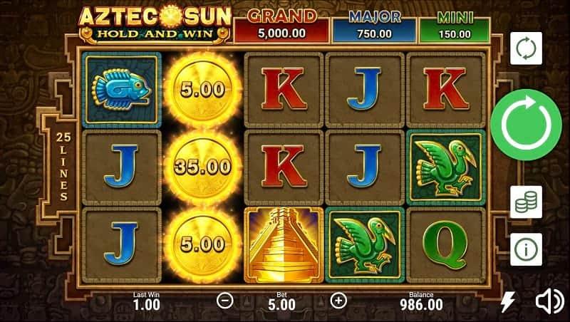 Aztec Sun Pokie by Booongo - GetSlots Casino