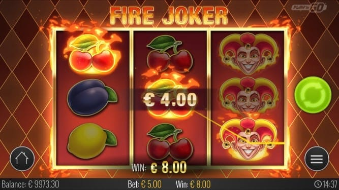 Fire Joker Pokie by Playn'Go at GetSlots Casino