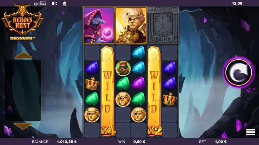 GetSlots Casino on Mobile - Heroes Hunt Pokie by Fantasma Games