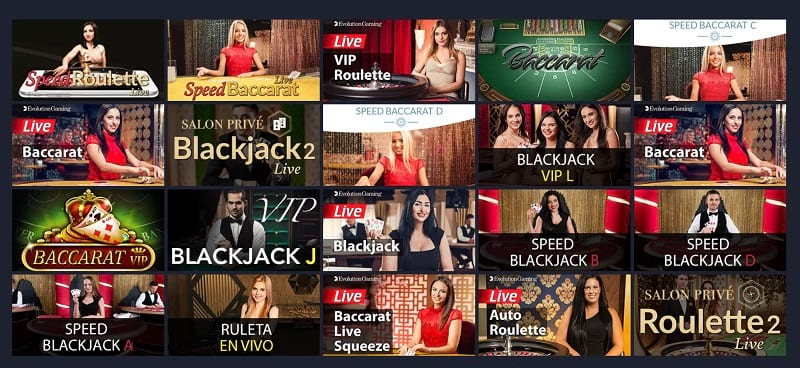 Live Dealers Casino Section at GetSlots