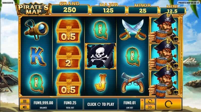 Pirat's Map Pokie by Platipus at GetSlots Casino