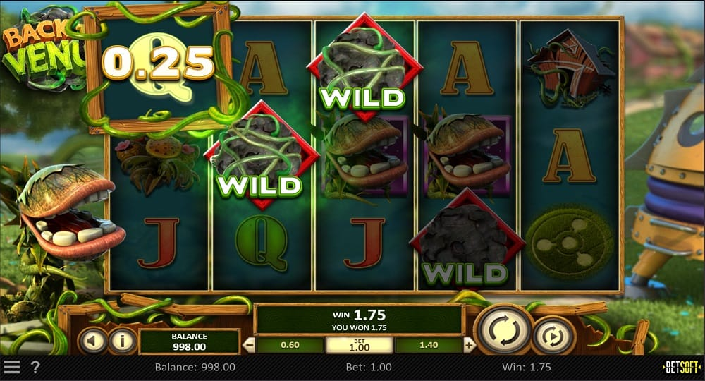 Back to Venus Pokie by BetSoft at DuckyLuck Casino