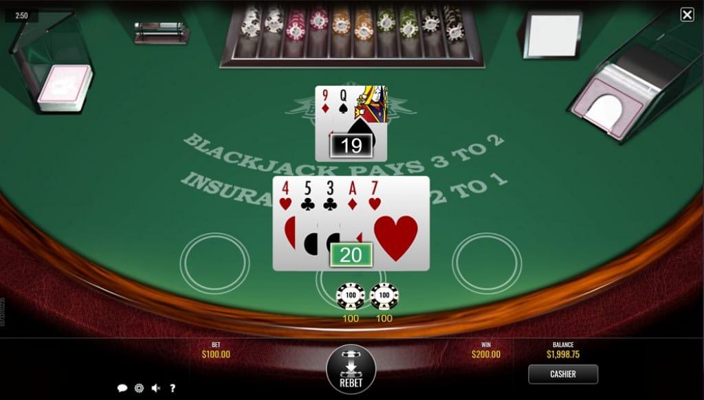 Blackjack Game at DuckyLuck Casino