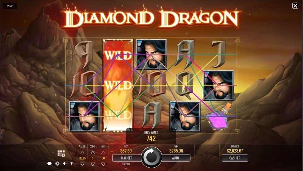 DuckyLuck Casino - Diamond Dragon Pokie by Rival Slots