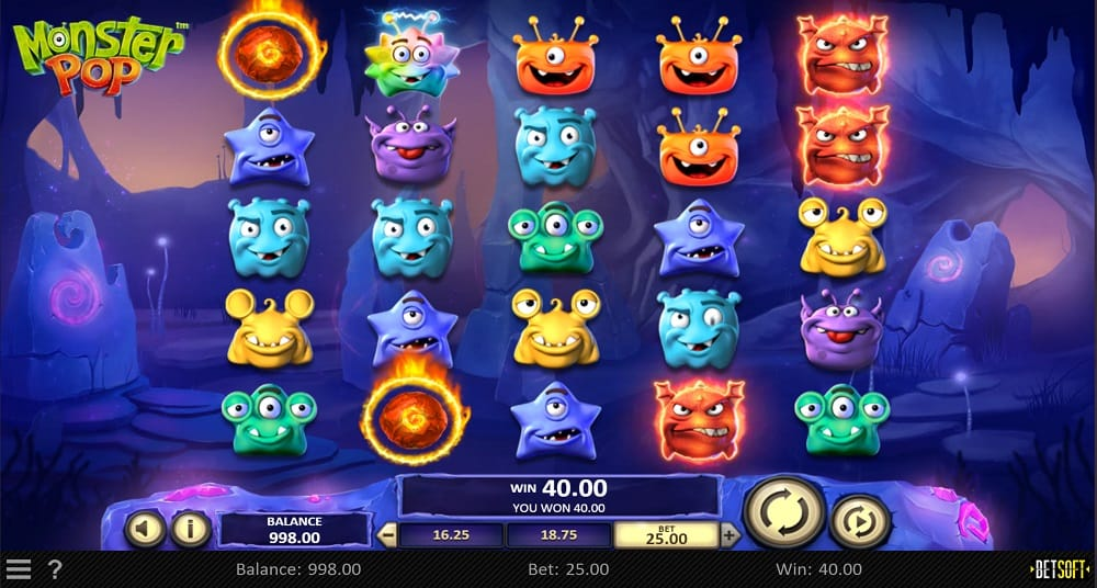Monster Pop Pokie by BetSoft at DuckyLuck Casino