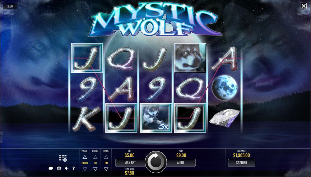 Mystic Wolf Pokie by Rival Slots at DuckyLuck Casino