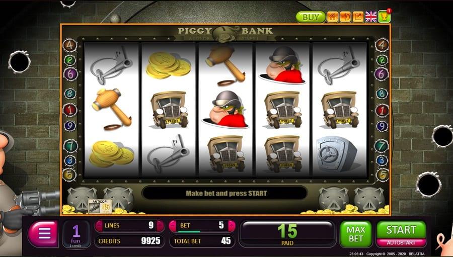 Fast Pay Casino Review - Piggy Bank Pokie by Belatra