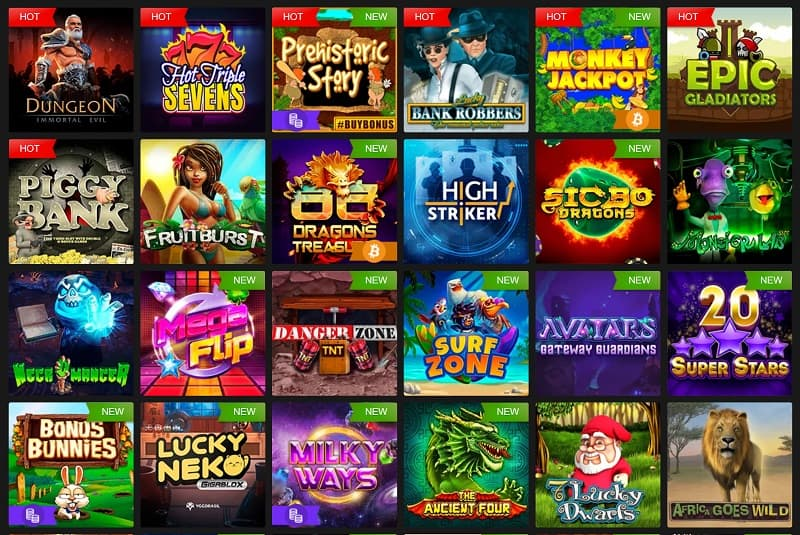Pokies Selection at Fast Pay Casino