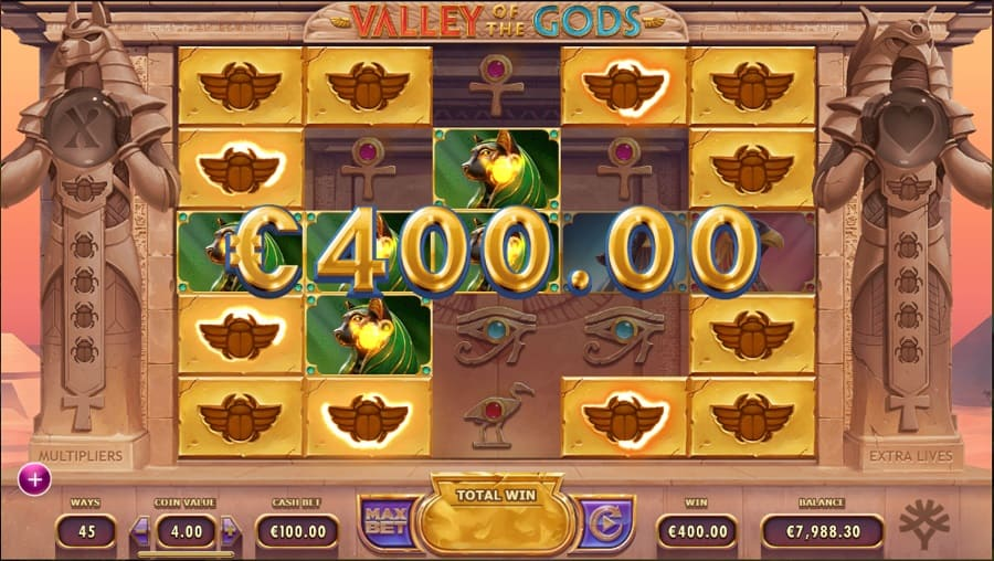 Fast Pay Casino - Valley Of The Gods Slot by Yggdrasil