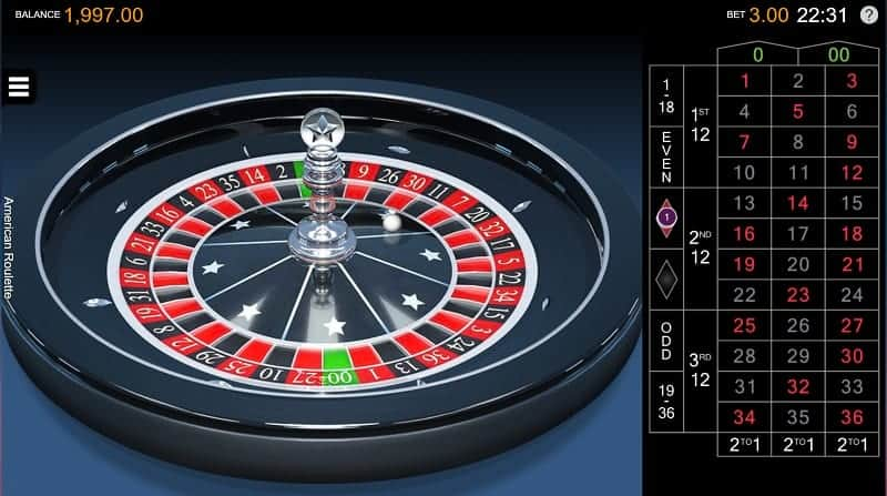 Golden Crown Casino Review - American Roulette Game