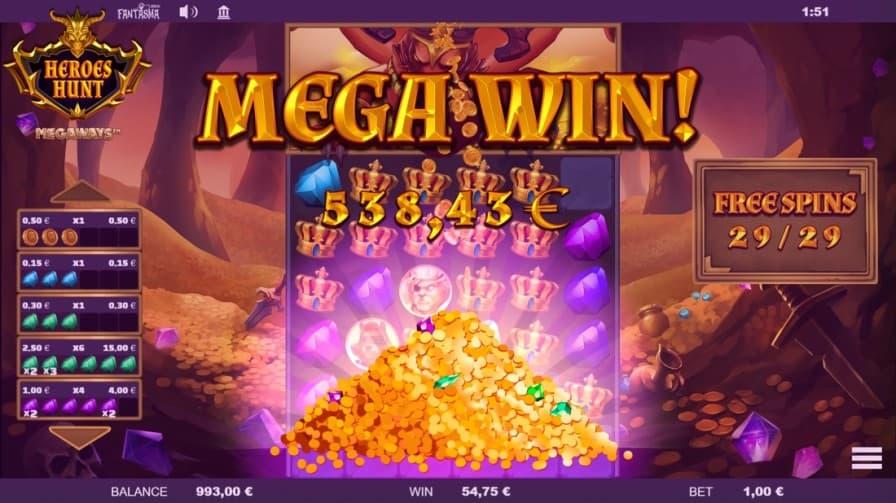 Heroes Hunt Megaways by Fantasma Games at Golden Crown Casino