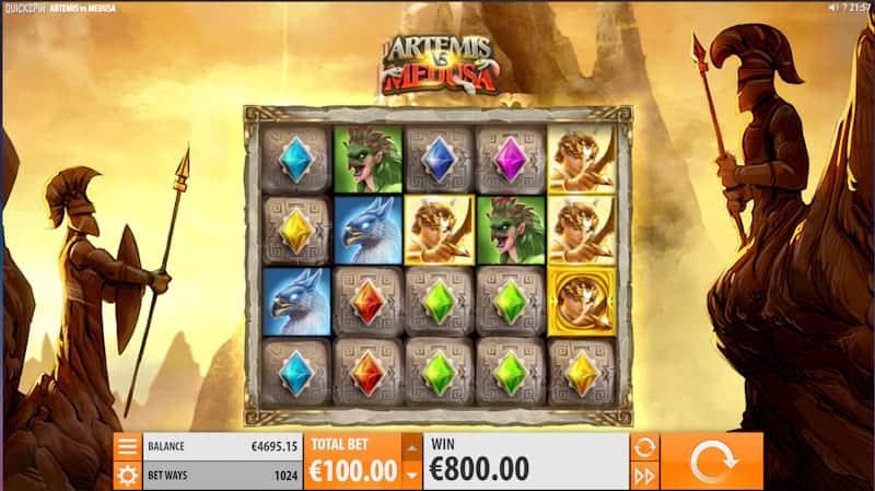 Artemis VS Medusa Pokie Game by Quickspin - King Billy Casino