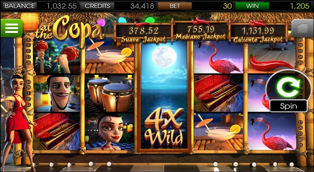 At the Copa Slot on Mobile by BetSoft at ViggoSlots Casino